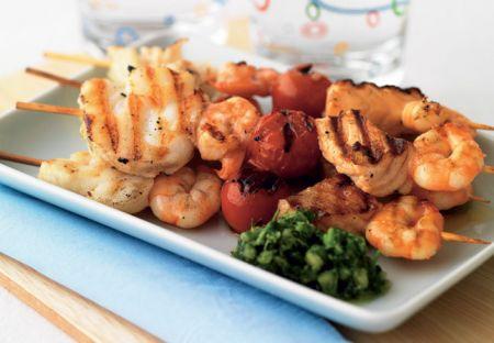 Spiedini di pesce patatefritte for Spiedini di pesce gratinati